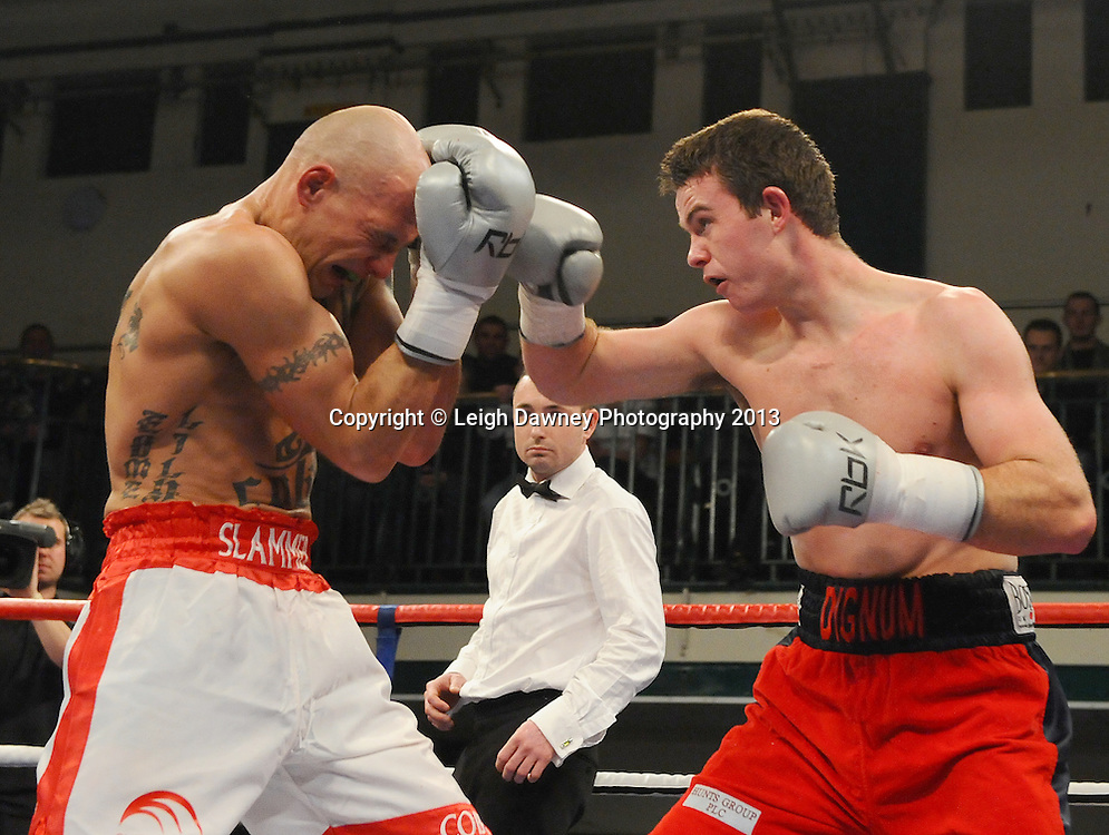 John Dignum defeats Kieron Gray at York Hall, Bethnal Green, London, UK on the 21st March 2013. Frank Warren Promotions. © Leigh Dawney Photography 2013.