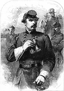 American Civil War 1861-1865: George Brinton McClellan (1826-1885) American army officer in 1861 when Commander-in-Chief of Unionist (Northern) forces, a position he held for five months. Wood engraving.