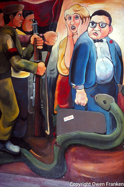 Nicaragua, anti-Samosa mural