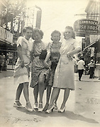 girls on the town showing of there legs