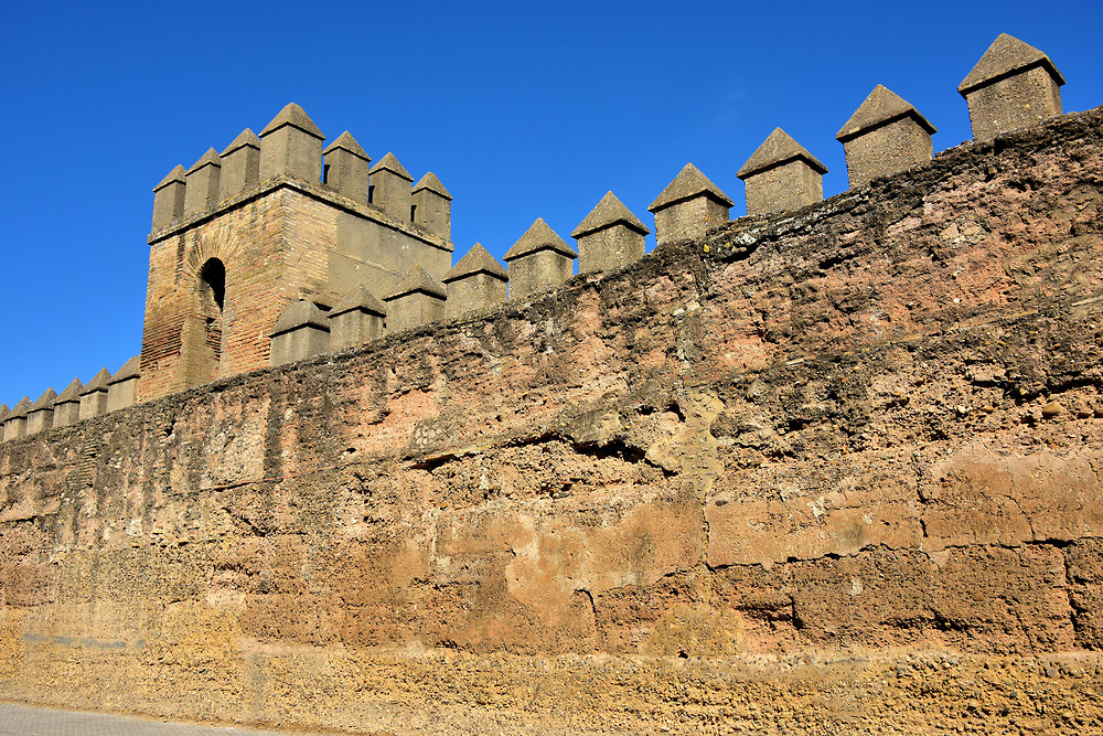 Ancient City Walls in La Macarena in Seville, Spain<br />