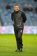Aberdeen assistant manager Tony Docherty watches the warm up before the Ladbrokes Scottish Premiership match between Rangers and Aberdeen at Ibrox, Glasgow, Scotland on 5 December 2018.