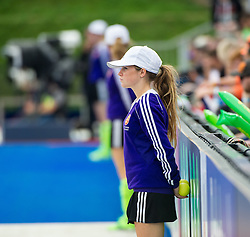 Ball patrol. Germany v Spain - 3rd/4th Playoff Unibet EuroHockey Championships, Lee Valley Hockey & Tennis Centre, London, UK on 30 August 2015. Photo: Simon Parker