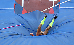 May 31, 2018 - Rome, Italy - Ernest John Obiena (PHI) competes in pole vault men during Golden Gala Iaaf Diamond League Rome 2018 at Olimpico Stadium in Rome, Italy on May 31, 2018. (Credit Image: © Matteo Ciambelli/NurPhoto via ZUMA Press)