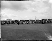21/07/1962<br /> 07/21/ 1962<br /> 21 July 1962<br /> Woodbrook Irish Hospitals' Golf Tournament at Woodbrook Golf Course, Dublin, Saturday. David Sheahan, UCD pitching onto the 13th green. he had a 71 to set a new amateur course record.