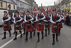 Achill Island Pipe band at the parade on sunday.<br /> Pic Conor McKeown