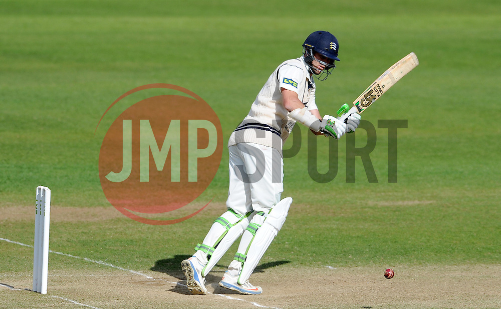 Middlesex's James Franklin flicks the ball- Photo mandatory by-line: Harry Trump/JMP - Mobile: 07966 386802 - 29/04/15 - SPORT - CRICKET - LVCC Division One - County Championship - Somerset v Middlesex - Day 4 - The County Ground, Taunton, England.