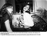 Kassalin Figer and Kara Sands. Trish Goff & Michele Hicks birthday celebration. The Madison. N.Y. 19/6/96. Film 9801.8f4<br />© Copyright Photograph by Dafydd Jones<br />66 Stockwell Park Rd. London SW9 0DA<br />Tel 0171 733 0108