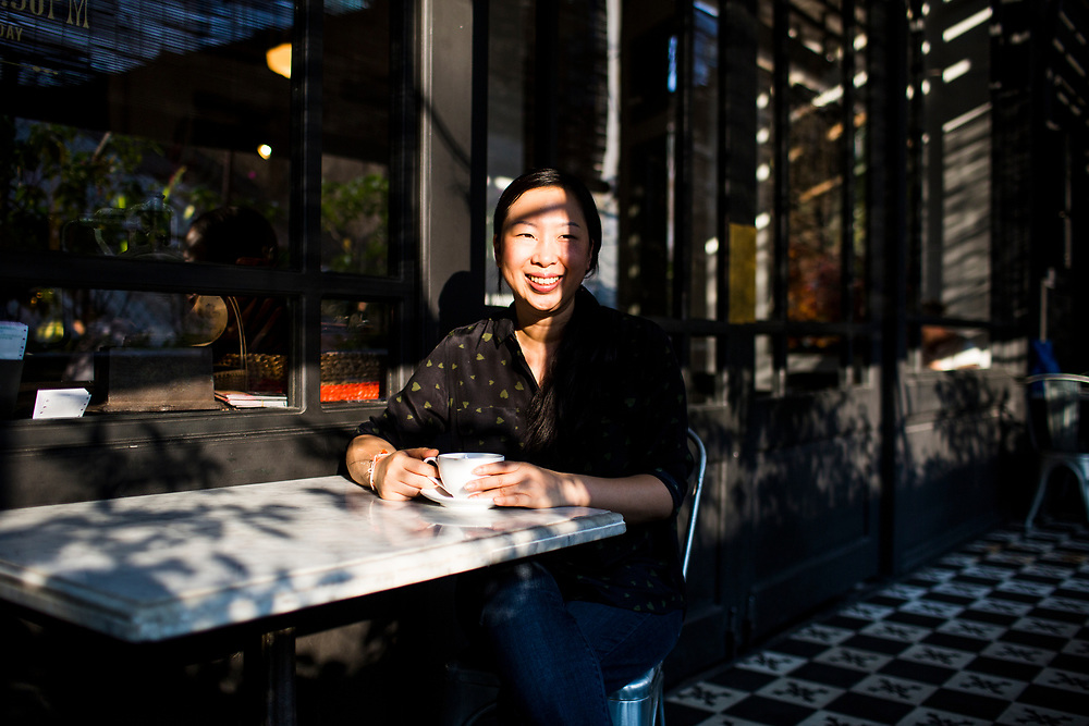 A portrait of Tib Hoang, one of the owners of L'Usine cafe in District 1, Ho Chi Minh City, Vietnam.