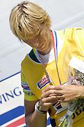 Poznan, POLAND,  BLR W1X, Ekaterina KARSTEN-KHODOTOVITCH, gold medelist, Women's Single Scull, at the 2008 FISA World Cup. Rowing Regatta. Malta Rowing Course on Sunday, 22/06/2008. [Mandatory Credit:  Peter SPURRIER / Intersport Images] Rowing Course:Malta Rowing Course, Poznan, POLAND