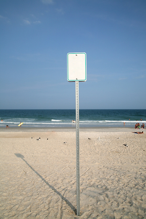 Beach access sign on Wrightsville Beach, NC, July 29, 2008