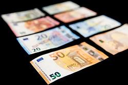 New banknotes for 5, 10, 20 and 50 EUR, on April 3, 2017 in Banka Slovenije, Ljubljana, Slovenia. Photo by Vid Ponikvar / Sportida