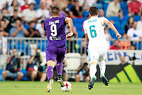 Real Madrid's Nacho Fernandez (r) and ACF Fiorentina's Giovanni Simeone during Santiago Bernabeu Trophy. August 23,2017. (ALTERPHOTOS/Acero)