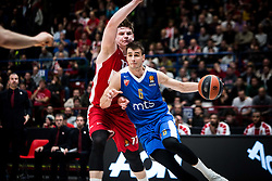 December 29, 2017 - Assago, Milan, Italy - Nemanja Dangubic (#6 Crvena Zvezda Mts Belgrade) drives to the basket during a game of Turkish Airlines EuroLeague basketball between  AX Armani Exchange Milan vs Crvena Zvzda Mts Belgrade at Mediolanum Forum in Milan, Italy, on 29 december 2017. (Credit Image: © Roberto Finizio/NurPhoto via ZUMA Press)