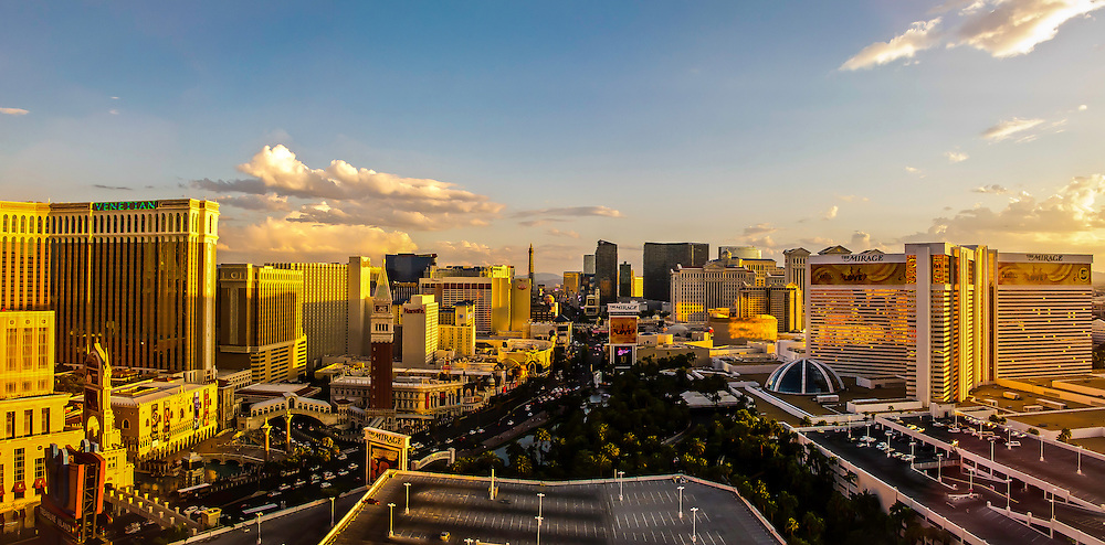 "The largest concentration of luxury hotels in the world.  Las Vegas Boulevard aka ""The Strip"" is the original main street of Las Vegas, Nevada."