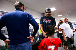 Marcus Delpeche of Bristol Flyers meets fans - Mandatory by-line: Robbie Stephenson/JMP - 17/09/2019 - BASKETBALL - SGS Arena - Bristol, England - Bristol Flyers Open Training Session