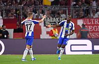 Fussball  1. Bundesliga  Saison 2019/2020  1. Spieltag  FC Bayern Muenchen - Hertha BSC Berlin       16.08.2019 JUBEL Hertha; Torschuetze zum 1-1 Ausgleich Dodi Lukebakio (re) und Maximilian Mittelstaedt (li)