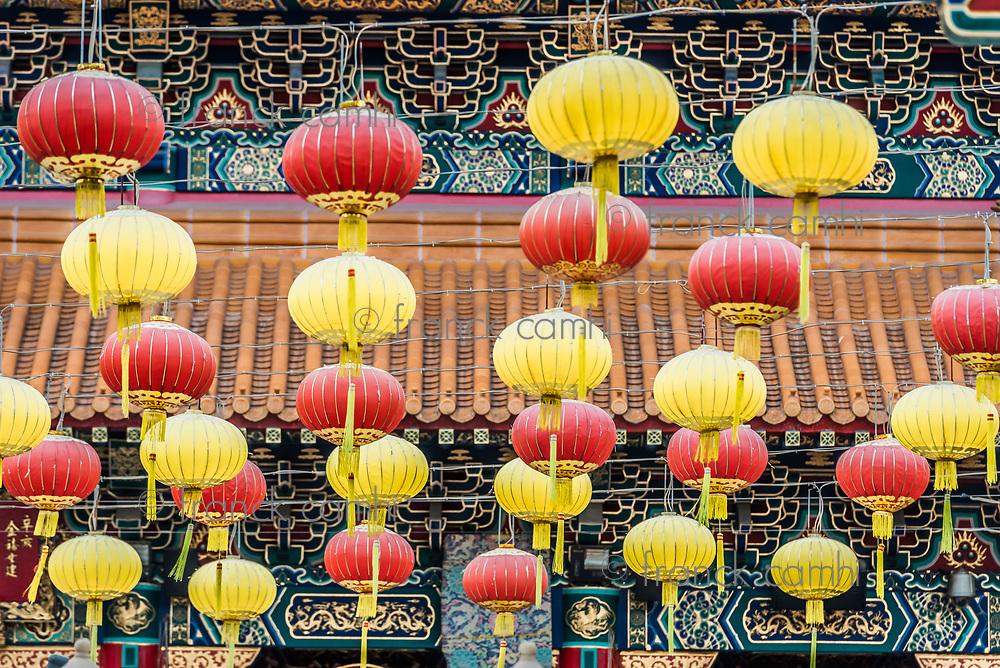 Chineses lanterns Sik Sik Yuen Wong Tai Sin Temple Kowloon in Hong Kong