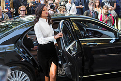 Guests arrival at the Giorgio Armani Fashion Show during the Milan Fashion Week 2017 on September 22, 2017. 22 Sep 2017 Pictured: Rula Jebreal at the Giorgio Armani Fashion Show during the Milan Fashion Week 2017 on September 22, 2017. Photo credit: Stefano Costantino / MEGA TheMegaAgency.com +1 888 505 6342