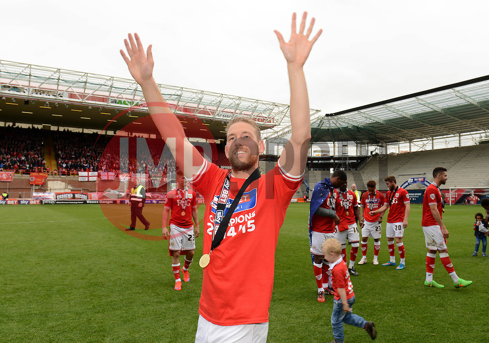 Bristol City's Scott Wagstaff celebrates towards the fans - Photo mandatory by-line: Dougie Allward/JMP - Mobile: 07966 386802 - 03/05/2015 - SPORT - Football - Bristol - Ashton Gate - Bristol City v Walsall - Sky Bet League One