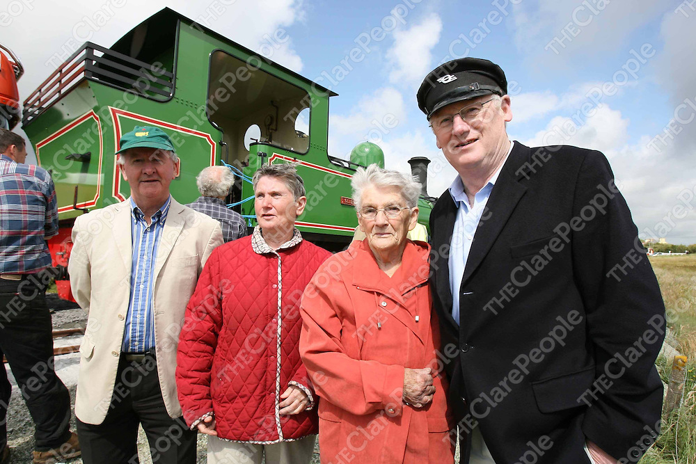 Cllr Gabriel Keating,Mary Haugh,Josephine Galvin and Joe Taylor turned out to welcome the Slieve Callan back to Moyasta on Monday.<br /> <br /> Photograph by Eamon Ward