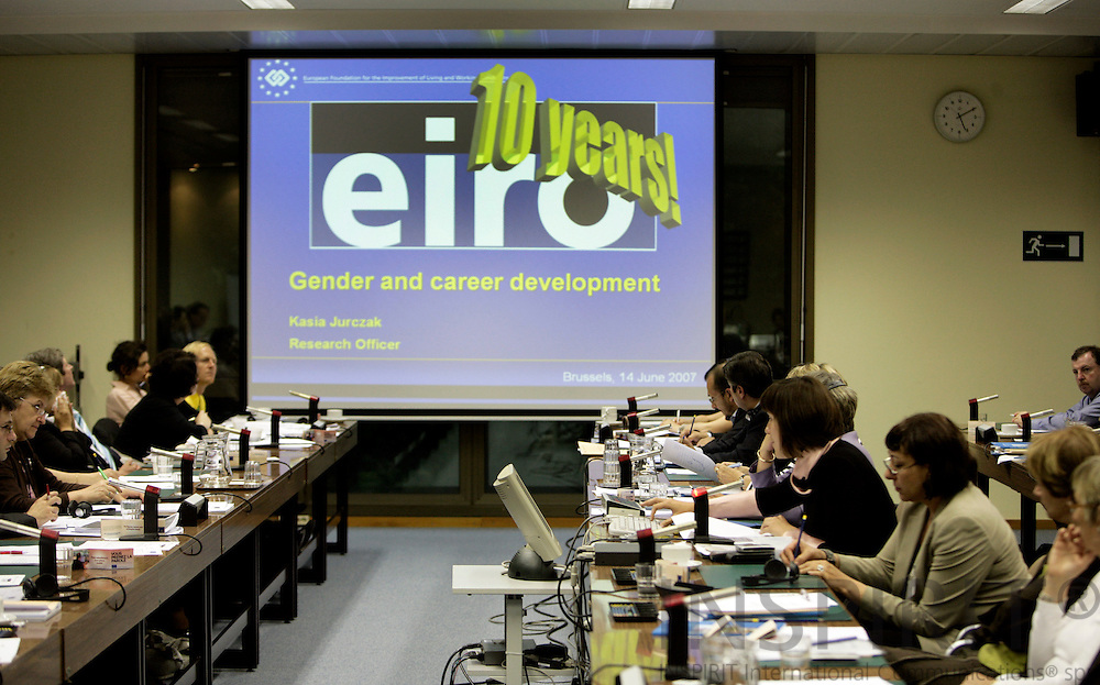 BRUSSELS - BELGIUM - 14 JUNE 2007 -- EUROFOUNDS European leading monitoring instrument EIRO (European Industrial Relations Observatory) - offering reliable and up-to-date news and information on industrial relations developments in Europe - marked its 10th anniversary in connection with the presentation of the Industrial Relations Developments in Europe 2006 report. Photo: Erik Luntang/INSPIRIT Photo
