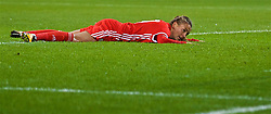 CARDIFF, WALES - Friday, November 24, 2017: Wales' Kayleigh Green looks dejected after missing a chance during the FIFA Women's World Cup 2019 Qualifying Round Group 1 match between Wales and Kazakhstan at the Cardiff City Stadium. (Pic by David Rawcliffe/Propaganda)