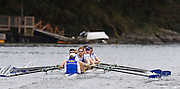 The University of British Columbia UBC reserve Men's rowing crew vs the University of Victoria Uvic Mens reserve rowing crew in the 2014 Brown Cup challenge duel race held along the Gorge Waterway in Victoria British Columbia Canada. Photograph by: KEVIN LIGHT.