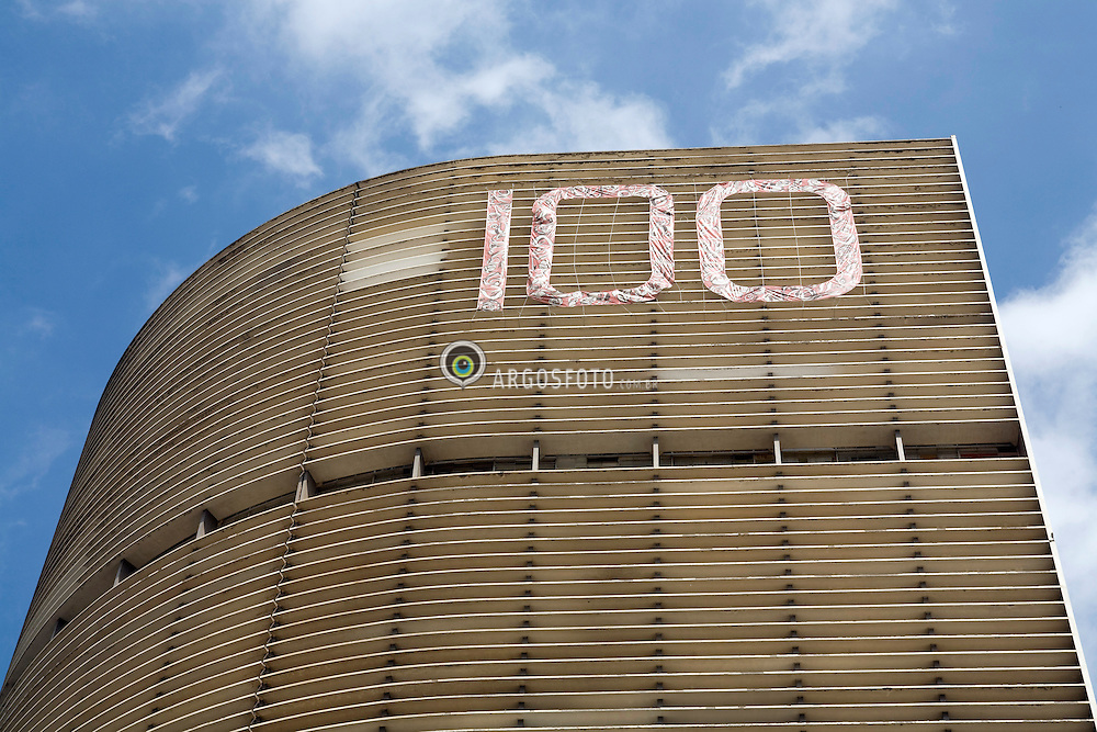 Edificio Copan / Copan apartment building .17/12/2007, Sao Paulo, Brasil..O Edificio Copan, projeto do arquiteto Oscar Niemeyer, que este mes no dia 15 de dezembro completou 100 anos de vida./ Copan apartment building, projected by Oscar Niemeyer, which is honored for his 100th birthday..Foto Adri Felden/Argosfoto