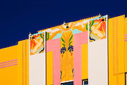 Spectacular Art Deco bas-reliefs including nude nymphs on a small Miami Beach hotel designed by architect Henry Hohauser in 1936 -- an outstanding example of the flamboyant and happy Tropical Deco style for which Miami Beach's historic South Beach neighborhood is famous.