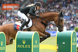23.07.2017, Aachener Soers, Aachen, GER, CHIO Aachen, im Bild 0 Runde erster Umlauf: Laura Klaphake (GER) mit Ihrem Pferd Catch me if you can // during the CHIO Aachen World Equestrian Festival at the Aachener Soers in Aachen, Germany on 2017/07/23. EXPA Pictures © 2017, PhotoCredit: EXPA/ Eibner-Pressefoto/ Roskaritz<br /> <br /> *****ATTENTION - OUT of GER*****