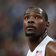 Kevin Durant, USA, during the Men's Basketball Final between USA and Spain at the North Greenwich Arena during the London 2012 Olympic games. London, UK. 12th August 2012. Photo Tim Clayton