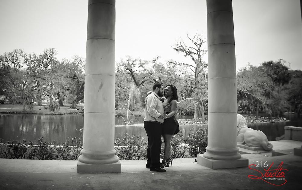 Couple Wedding Engagement - City Park New Orleans  2013 Wedding Photography 1216 Studio   Photographer