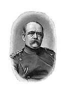 Otto von Bismarck (1815-98) German (Prussian) statesman. Bismarck in 1871 as Chancellor of the German Empire. Engraving