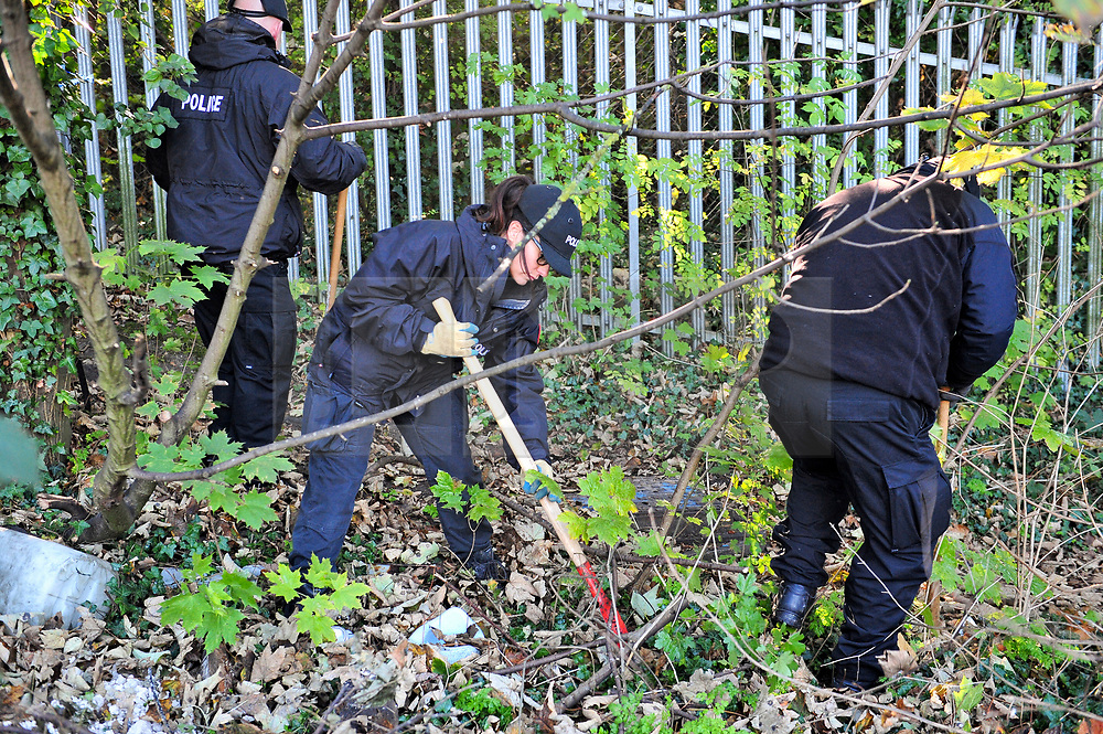 © Licensed to London News Pictures 31/10/2018<br /> Greenhithe, UK. Large numbers of police continue their search in wooded areas of Greenhithe, in the Dartford Borough of Kent, for missing mum Sarah Wellgreen.  <br /> Photo credit: Grant Falvey/LNP