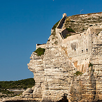 The fortress of Bonifacio was built 828 by Boniface II of Tuscany. Today Bonifatio is one of the most appreciated locations in the Mediterranean for sailing and diving.