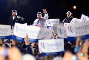 LAURA FONG | DAILY KENT STATER U.S Presidential candidate Mitt Romney, New Jersey Governor Chris Chrstie, and Ohio Senator Rob Portman arrive in Cuyahoga Falls to a crowd of nearly 12,000.