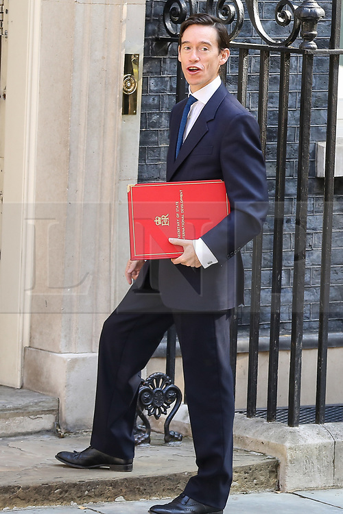 © Licensed to London News Pictures. 23/07/2019. London, UK. Secretary of State for International Development Rory Steward  arrives in Downing Street to attend Theresa May's final Cabinet meeting. Photo credit: Dinendra Haria/LNP
