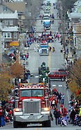 12/1/12 11:47:16 AM - Souderton, PA: .The Souderton/Telford Holiday Parade marches up Main Street December 1, 2012 in Souderton, Pennsylvania -- (Photo by William Thomas Cain/Cain Images)