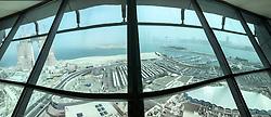 Images from the Sky Tower at the Marina Mall, Abu Dhabi, U. Arab Emirates. MSC Fantasia cruise to Dubai, Abu Dhabi and Sir Bani Yas Island, U. Arab Emirates from Jan 21st to 28th 2017.