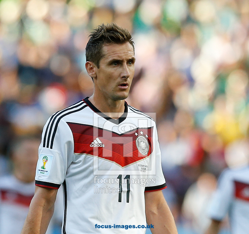 Miroslav Klose of Germany during the 2014 FIFA World Cup Final match at Maracana Stadium, Rio de Janeiro<br /> Picture by Andrew Tobin/Focus Images Ltd +44 7710 761829<br /> 13/07/2014