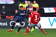 Pablo Hernandez (19) of Leeds United on the attack during the EFL Sky Bet Championship match between Bristol City and Leeds United at Ashton Gate, Bristol, England on 9 March 2019.