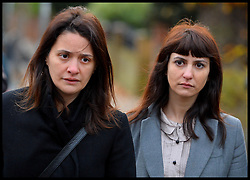 Italian sisters Elisabetta (left) and Francesca Grillo (right, Grey Coat)arrive at Isleworth Crown Court<br /> The TV Chef Nigella Lawson will today give evidence at Isleworth Crown Court. London, United Kingdom. Thursday, 5th December 2013. The TV chef is expected to give evidence today at the trial for Francesca and Elisabetta Grillo, who appear charged with fraud after allegedly using a company credit card to defraud the TV chef and her former husband out of £300,000. Picture by Andrew Parsons / i-Images