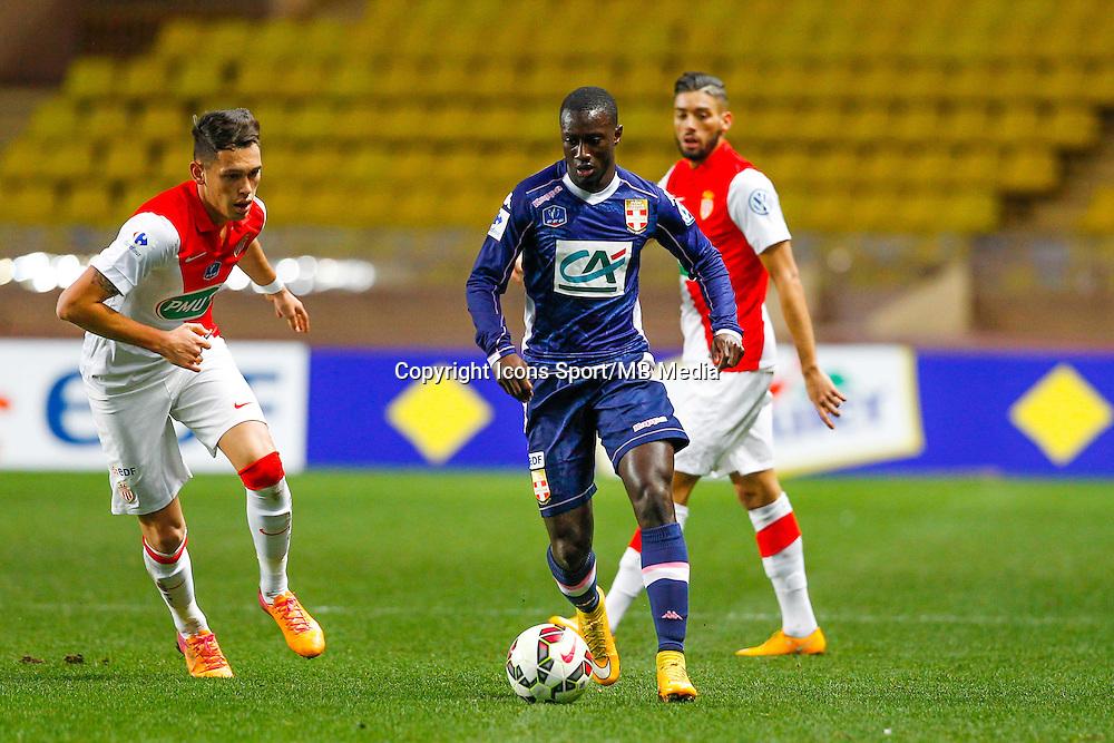 Lucas Ocampos / Yannick Ferreira Carrasco / Sabaly Youssouf  - 21.01.2015 - Monaco / Evian Thonon   - Coupe de France 2014/2015<br /> Photo : Sebastien Nogier / Icon Sport