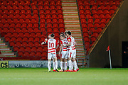 James Coppinger of Doncaster Rovers Celebrates scoring a goal during the EFL Sky Bet League 1 match between Doncaster Rovers and Bristol Rovers at the Keepmoat Stadium, Doncaster, England on 26 March 2019.