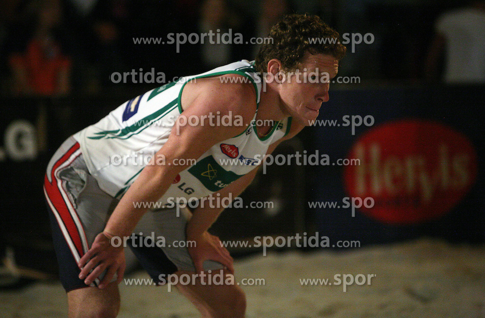 Tine Urnaut (Vital Pro Team) at qualifications for 14th National Championship of Slovenia in Beach Volleyball and also 4th tournament of series TUSMOBIL LG presented by Nestea, on July 25, 2008, in Kranj, Slovenija. (Photo by Vid Ponikvar / Sportal Images)/ Sportida)