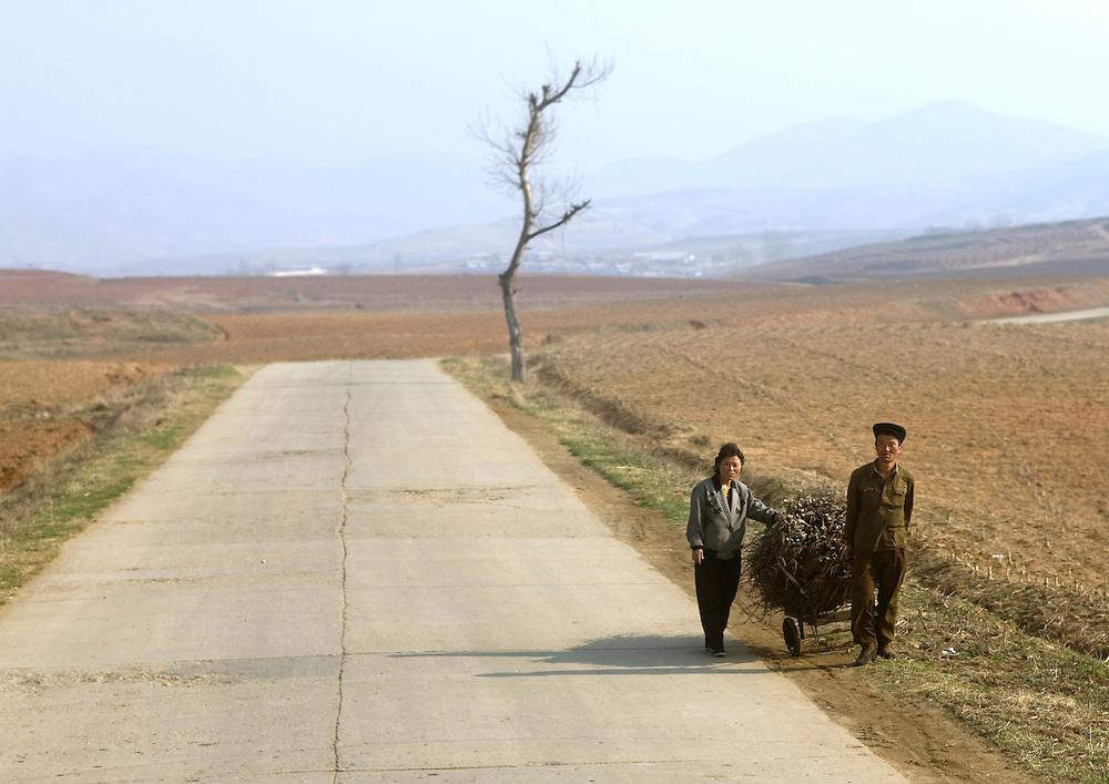 North Korean countryside, North Korea