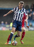 Football - 2016 / 2017 FA Cup - Fifth Round: Millwall vs. Leicester City <br /> <br /> Steve Morison of Millwall at The Den<br /> <br /> COLORSPORT/DANIEL BEARHAM