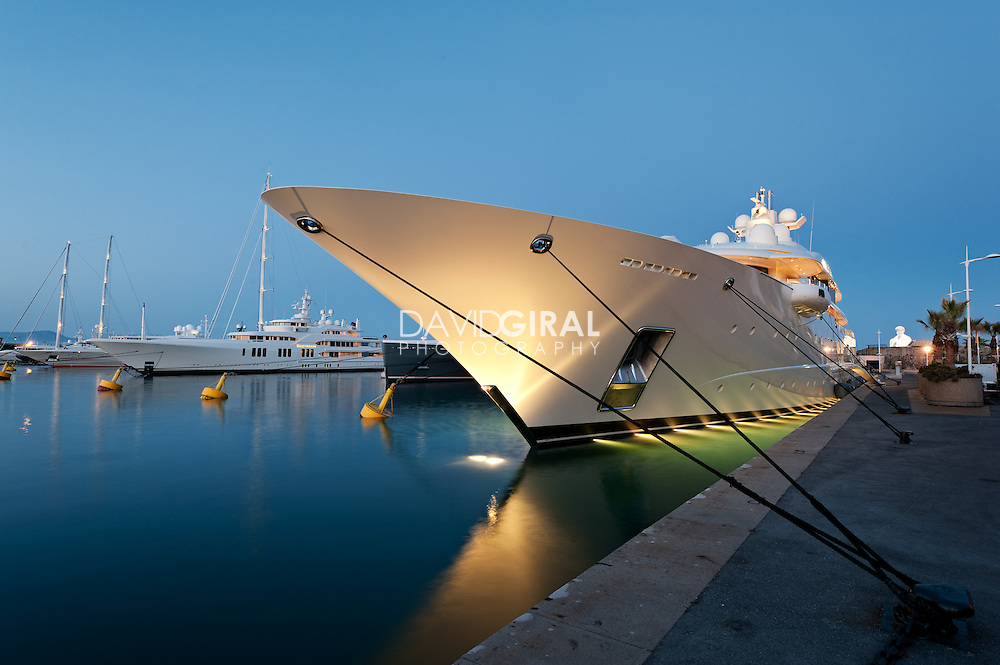 Billionaire's quay yachts, antibes, french riviera, france