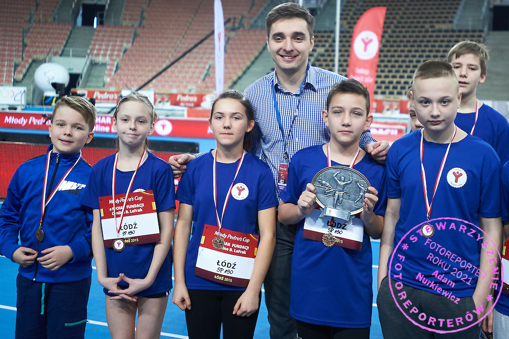 Marek Plawgo during Youth Pedro&rsquo;s Cup by Caroline B. LeFrak Foundation while athletics meeting Pedro's Cup at Atlas Arena in Lodz, Poland.<br /> <br /> Poland, Lodz, February 17, 2015<br /> <br /> Picture also available in RAW (NEF) or TIFF format on special request.<br /> <br /> For editorial use only. Any commercial or promotional use requires permission.<br /> <br /> Adam Nurkiewicz declares that he has no rights to the image of people at the photographs of his authorship.<br /> <br /> Mandatory credit:<br /> Photo by &copy; Adam Nurkiewicz / Mediasport